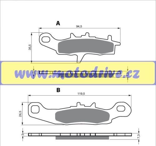 MRP Brzdové destičky Kawasaki KX 80, 85