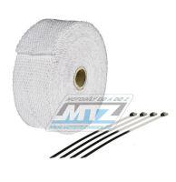 Páska izolační na výfuk 50mm / návin 10m (750°C) - bílá