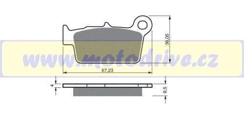 Brzdové destičky TM 250 EN,MX - MINO NL