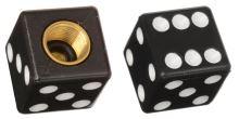 Čepičky ventilků Lucky Dice, OXFORD (černé, pár)