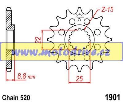 Řetězové kolečko KTM EXC 250