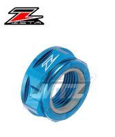 Matice osy zadního kola ZETA - modrá - Yamaha YZ125+YZ250+YZF250+YZF400+YZF426+YZF450 + WRF250+WRF400+WRF426+WRF450 + WR250X+WR250R + KTM 85SX + SX+SXF+EXC+EXCF + Husqvarna TC+FC+TE+FE+FX