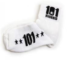 Ponožky 101 FOOTWEAR, 101 RIDERS - ČR (bílé/černé, vel. 36/37)