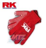 Rukavice mechanické RK Chain - červené
