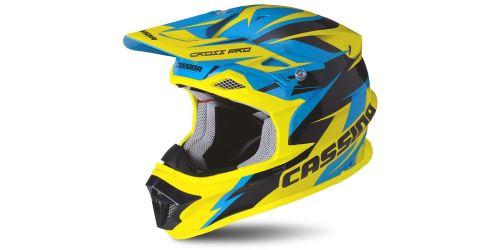 Přilba Cross Pro, CASSIDA - ČR (modrá/žlutá fluo/černá)