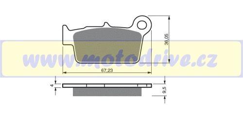 Brzdové destičky Yamaha YZ 250 MINO NL