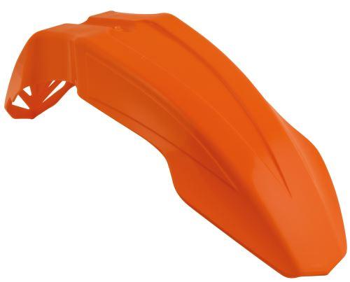 Blatník přední univerzální Supermoto krátký, RTECH (odst. oranžová KTM, s průduchy)