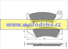 Replica Brzdové destičky Honda CRF 150 přední 2003-2007