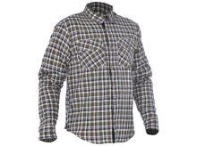 Košile KICKBACK CHECKER s Kevlar® podšívkou, OXFORD (zelená khaki/bílá)