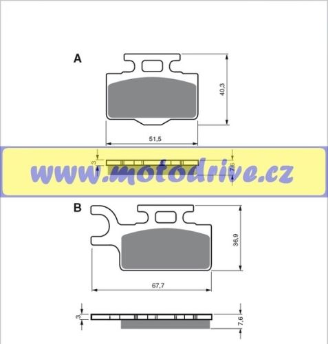 MRP Brzdové destičky Kawasaki KX 60, 65