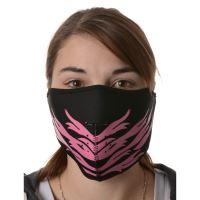 Maska neoprenová Pink Feather, EMERZE (černá/růžová)