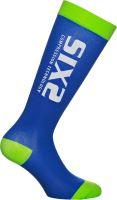 SIXS RS kompresní podkolenky modrá/zelená M