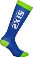 SIXS RS kompresní podkolenky modrá/zelená S