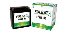 Baterie 12V, YTX16-BS, 14Ah, 230A, bezúdržbová MF AGM 150x87x161 FULBAT (vč. balení elektrolytu)