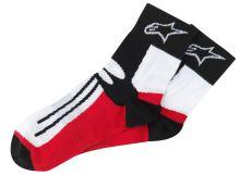 Ponožky krátké RACING ROAD COOLMAX®, ALPINESTARS - Itálie (černé/bílé/červené)