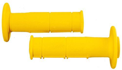 Gripy Racing (měkké), RTECH (žluté, pár, délka 116 mm)