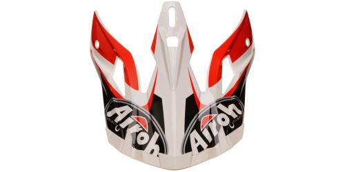 Náhradní kšilt pro přilby AVIATOR 2.2 Check, AIROH - Itálie (červená)