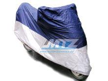 Plachta na motocykl universální (500-750cc) modro-stříbrná - pro venkovní použití