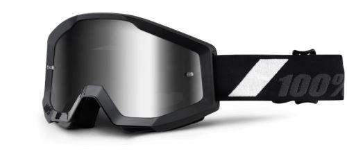 100% Brýle STRATA Goliath ( chrom plexi s čepy pro slídy)