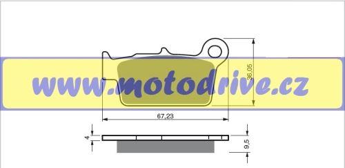 Brzdové destičky Kawasaki KXF 250 MINO NL