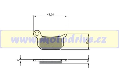 Brzdové destičky KTM SX 65 MINO NL