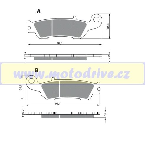 Brzdové destičky Yamaha YZ 125 MINO NL