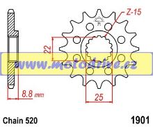 Řetězové kolečko KTM EXC 125_1980--/11z