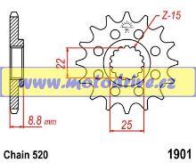 Řetězové kolečko KTM EXC 125_1980--/12z