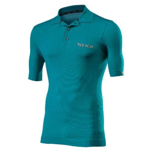 SIXS Polo funkční tričko s límečkem modrá M