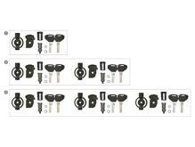 Set 3 bezpečnostní zámek, 2x klíč, KAPPA