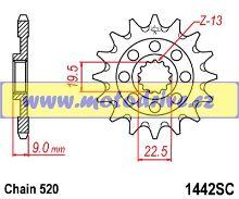 JT Řetězové kolečko Suzuki RMZ 250_2013--/14z