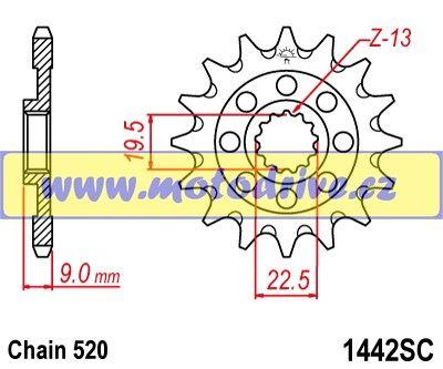 JT Řetězové kolečko Suzuki RMZ 250_2013--