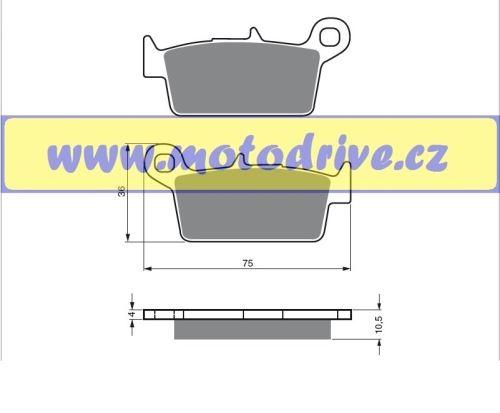 MRP Brzdové destičky Honda CR 80,85