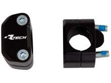Sada na zvýšení řídítek + 15 mm (průměr 22 > 28,6 mm) vč. šroubů, RTECH (černá)