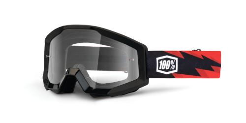 Brýle Strata Slash, 100% (čiré plexi s čepy pro slídy)