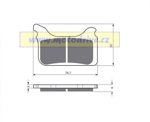 Brzdové destičky Husaberg 450 FSR - MINO NL
