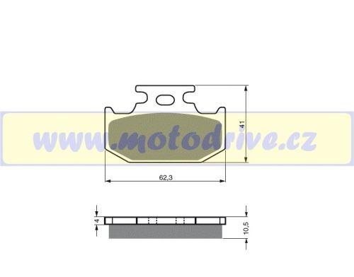 MRP Brzdové destičky Suzuki DR 350