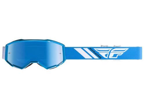 Brýle ZONE 2019, FLY RACING (modré, modré chrom plexi)