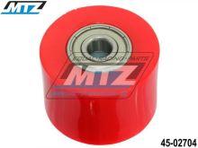 Rolna řetězu včetně ložisek (průměr 38mm / šířka 27,5mm) - červená