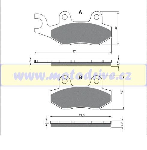 MRP Brzdové destičky Suzuki RM 125
