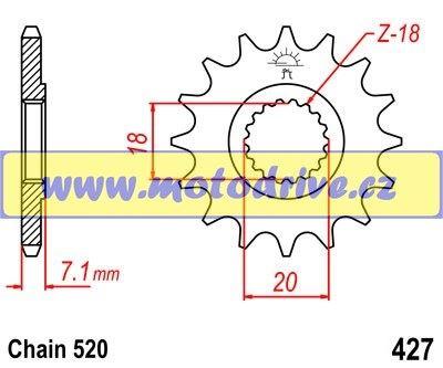 JT Řetězové kolečko Suzuki RMZ 250_2007-2012