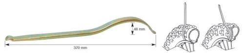 Montpáka 370 mm CrMo ocel, váha 0,4 kg